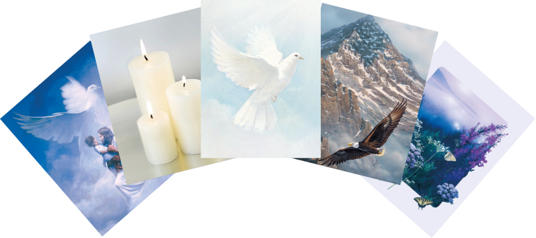 Library of memorial and prayer card verses